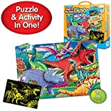 The Learning Journey Puzzle Doubles Glow in the Dark – Dinos – 100 Piece Glow in the Dark Preschool Puzzle (3 x 2 feet) – Educational Gifts for Boys & Girls Ages 3 and Up