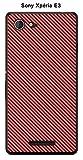 ONOZO Carbon Colour Intense Red Case For Sony Xperia E3