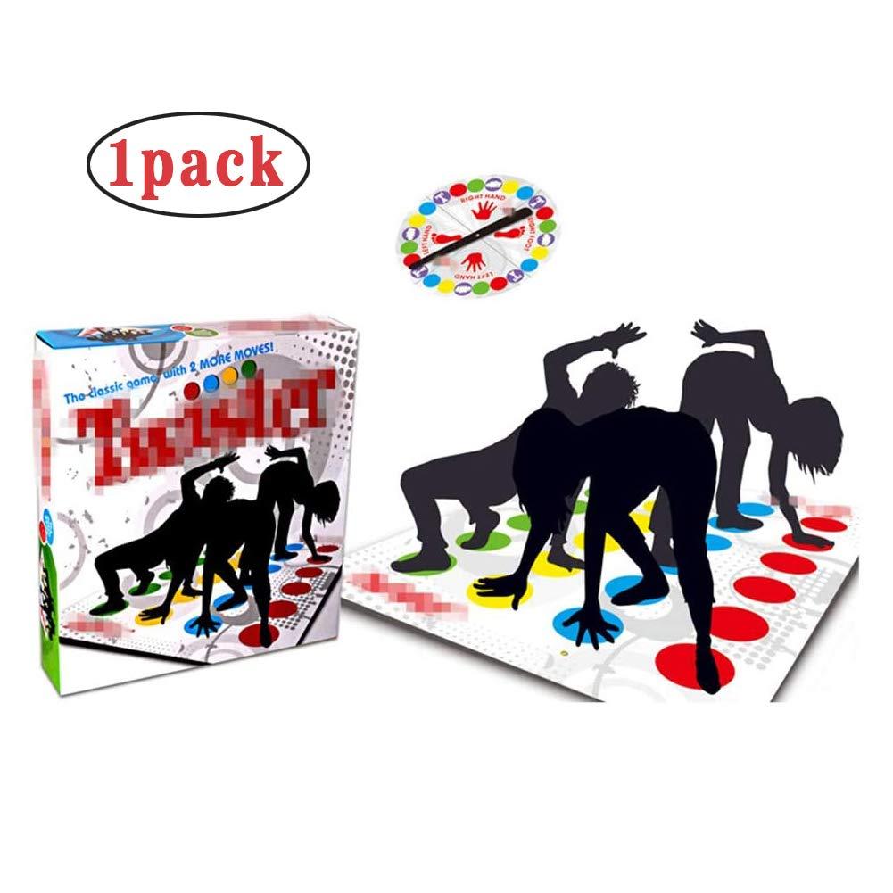WLL Juego de Piso de Equilibrio para Adultos y niños, Juego de Mesa clásico Twister, Juguetes de Aprendizaje, Juego de Fiesta, Picnic, Deporte al Aire Libre,1pack: Amazon.es: Hogar