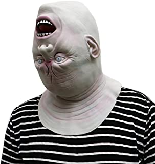 Franterd Halloween Down Full Head Mask, Halloween Scary Latex Adult Costume Face Party Props