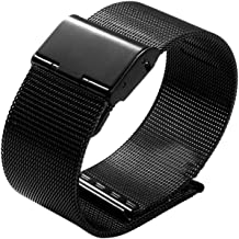 iPM Stainless Steel Mesh Milanese Loop Band for Apple Watch 42mm - Black