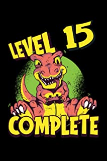 Level 15 Complete: Gaming Lined Notebook incl. Table of Contents on 120 Pages   Gaming Gamers Journal   Gift Idea for Game...