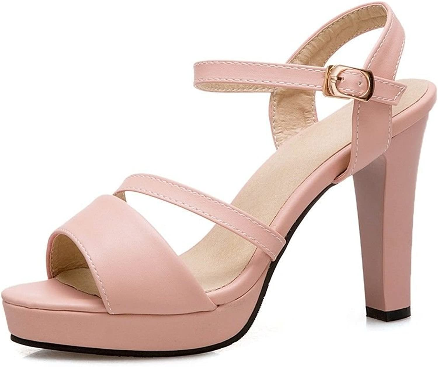In The Summer The high-Heel shoes Buckle Water Resistant, Glossy Sandals