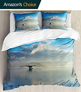 shirlyhome Hotel Collection Soft Luxury Bed Sheets Breathable Seashore of Australia Warm 3 Piece Set Twin
