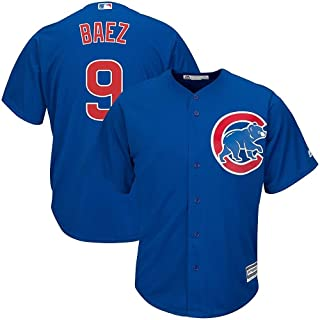 Outerstuff Javier Baez Chicago Cubs MLB Majestic Toddler Blue Alternate Cool Base Replica Jersey