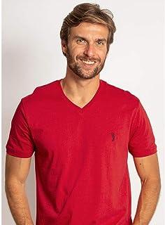Camiseta Aleatory Gola V Básica Vermelha