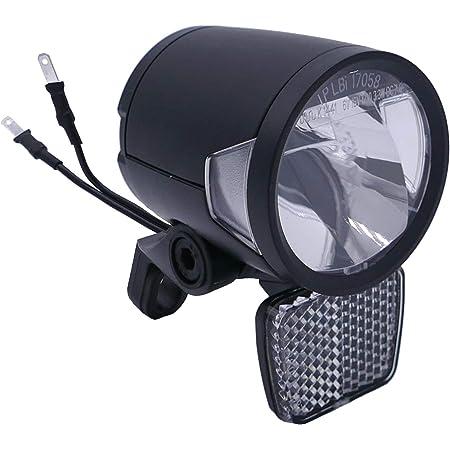 P4b Scheinwerfer Für E Bike 6v Und 12v 180 Lumen Ca 60 Lux Integrierte Led Kühlungselemente Für Eine Optimale Lichtleistung Bei Langen Fahrten Sport Freizeit
