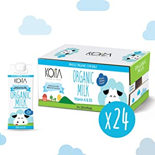 Koita Organic Milk Whole - Pack of 24 Pcs (24 x 200ml)