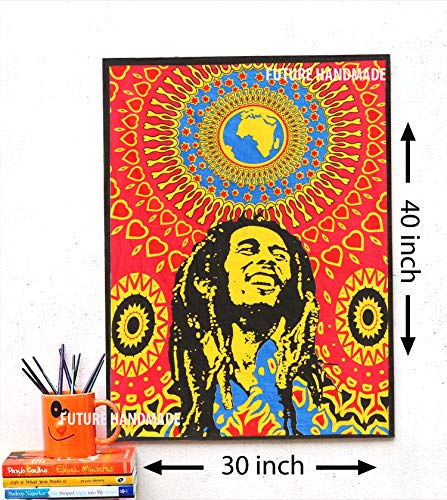 Future Handmade, Wandteppich, bunt, Hippie-Stil, Textil, Design P3, Poster Size