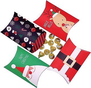 Candy Boxes,24pcs Boxes Treat Boxes Christmas Party Favor Boxes Cardstock Boxes Santa Party Decoration