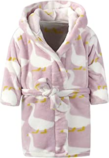 Ameyda Unisex Children s Flannel Bathrobes Hoodie c5e068ab1