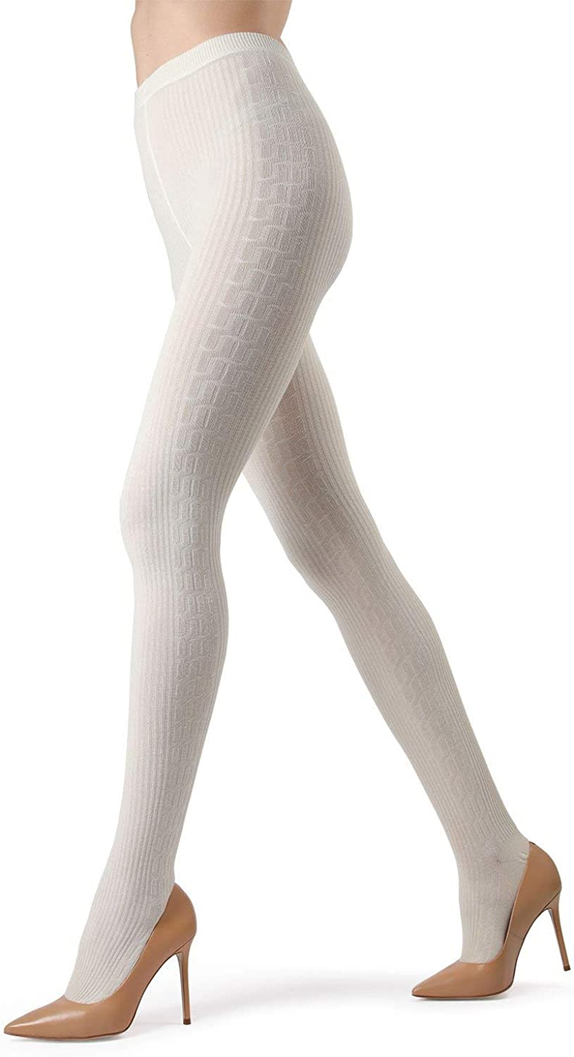 MeMoi Portland Side Cable Sweater Tights