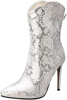 TAOFFEN Women Retro Short Boots Thin High Heels Western
