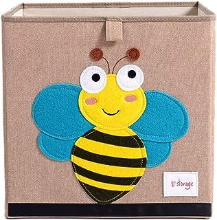 Demana Children Toy Storage Box Cute Cartoon Animals Pattern Design Plush Toy Storage Bucket