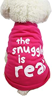 JSMeet Pet Clothes, Letter Printed T Shirts for Dogs Cute Vest Puppy Pet Clothing Apparel Costume Apparel (Hot Pink)