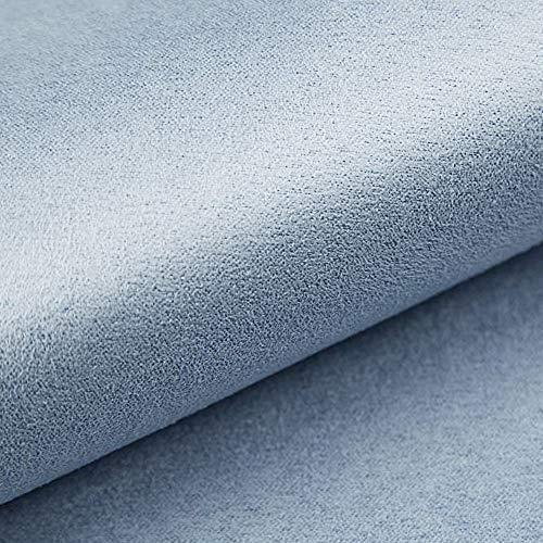 NOVELY® Alpen Polsterstoff im Wildleder-Look   Bezugsstoff   Microfaser   Velours   Möbelstoff (36 Hellblau)