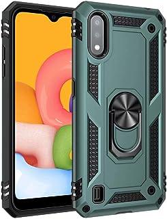 جراب FanTing لهاتف Motorola Moto G9 Plus، متين ومقاوم للصدمات، مع حامل للهاتف المحمول، غطاء لموتورولا موتو G9 بلاس- أخضر داكن