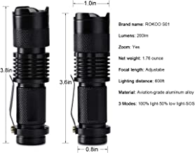 High Power Tactical Handheld LED Mini Flashlight 3 Modes Zoomable Waterproof Lamp Light for Camping LB88-Black