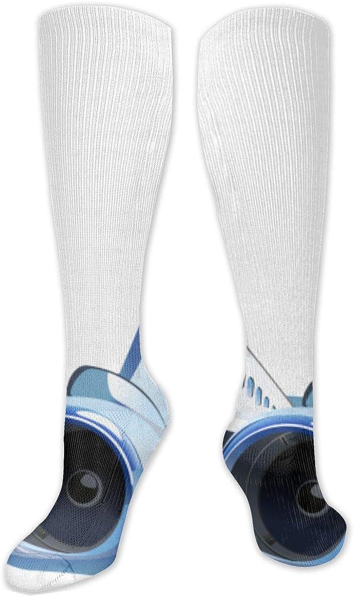 Airplane Knee High Socks Leg Warmer Dresses Long Boot Stockings For Womens Cosplay Daily Wear