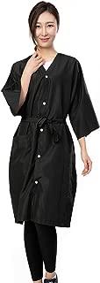 Salon Client Gown Robes Cape, Hair Salon Smock for Clients- Kimono Style, 5 Snap Closures