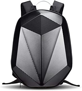 Zhanwang17-Auto Motorcycle Backpack - Motorcycle Hard Shell Backpacks,Knight Riding Computer Bag for Travelling Camping Cycling Storage Bag