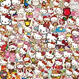 Hello Kitty Sticker Cartoon Cute Bagaglio Sticker Laptop Phone Sticker 100Pcs
