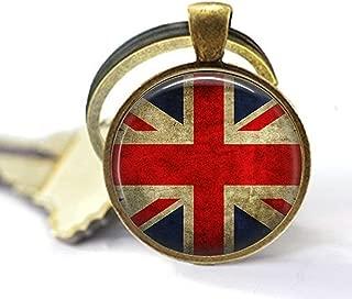 Union Jack British Flag - Keychain - Union Jack Jewellery - UK Flag Keychain - Great Britain Flag Keychain - Union Jack Keychain