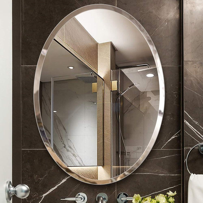 Oval bathroom mirror Wall Hanging Mirror - no Frame - bathroom mirror HD Silver Mirror