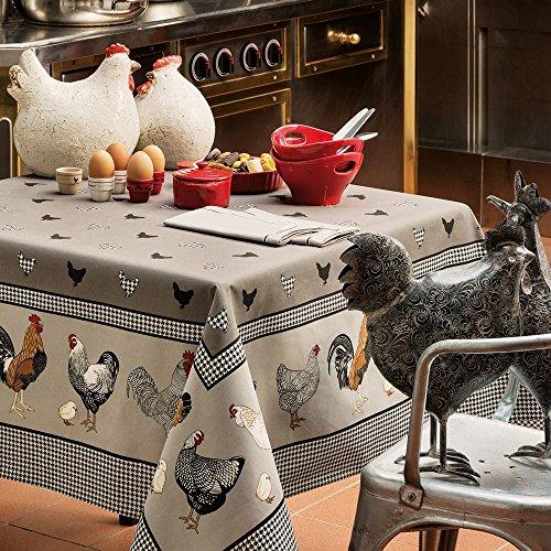 Tischdecke Rechteckig 150 × 210 cm Picoti Original, Beschichtete Baumwolle