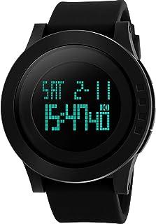 Reloj deportivo Aposon para hombres, digital y resistente. Relojes sencillos militares de carga larga con luz LED. Reloj de pulsera electrónico de diseño casual de la armada, para correr con luz trasera negra y calendario.