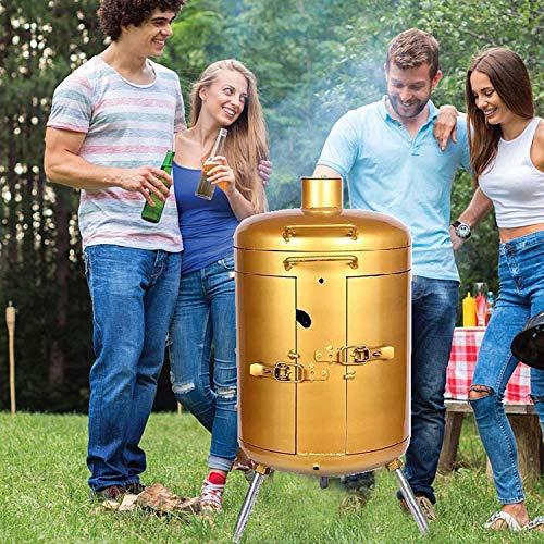 619Y ksJw7L. SL500  - MNSSRN Umweltfreundlicher rauchloser Grill, hängender Herd, Luxusgrill Holzkohle Holzkohle Grilling, kleines kleines Brühbrising, freistehender Grill
