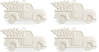 Antique Truck with Holiday Tree Ornament - Set of 4 - Paint Your Own Ceramic Keepsake