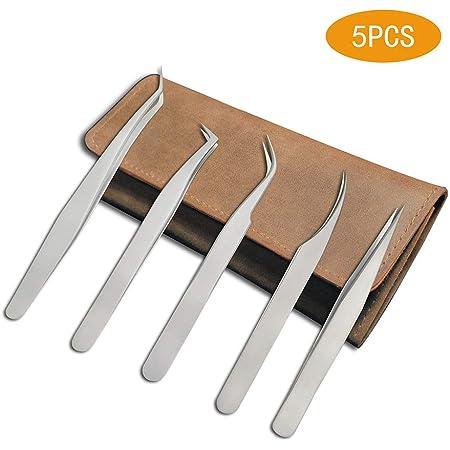 PARUU\u00ae 6 pc Epoxy Coated Tweezers set jewelers tool ST36