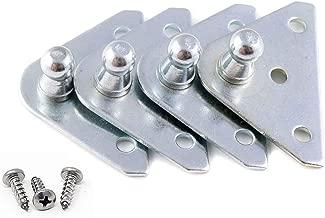 Gas Spring Mounting Bracket 10mm Ball Stud Strut Prop (2 Pairs - 10 Millimeter)