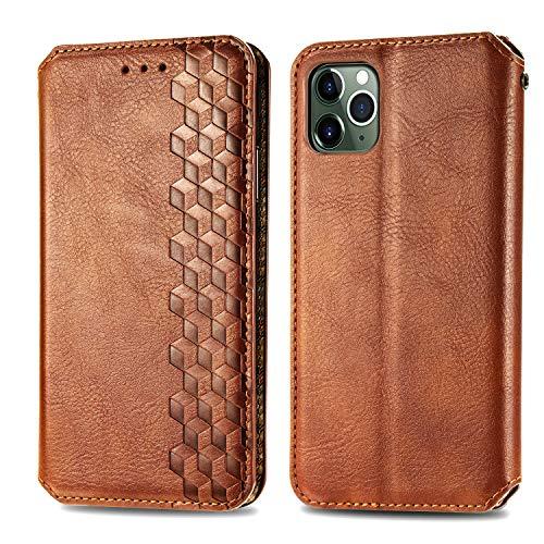 Trugox Funda Cartera para iPhone 11 Pro MAX de Piel con Tapa Tarjetero Soporte Plegable Antigolpes Cover Case Carcasa Cuero para Apple iPhone 11ProMax - LOSDA12A0034 Marrón