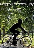 Road Bike Cyclist Racer nfd44 - Tarjeta de felicitación personalizable, tamaño A5, para todo el año 2016 de Derbyshire, Reino Unido