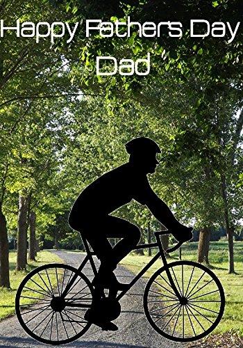 Racefiets Racer nfd44 Happy Father's Day kaart A5 Gepersonaliseerde wenskaarten geplaatst door ons geschenken voor alle 2016 van DERBYSHIRE UK