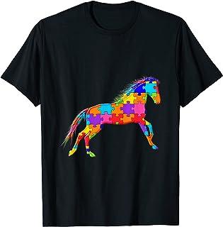 Animaux Cheval Jigsaw Puzzle Autisme T-Shirt