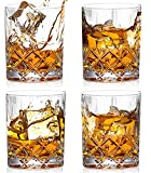 Bedoo Crystal Old Fashioned Whiskey Glasses Set of 4, 11 Oz Rocks Whiskey Glasses in Luxury Gift Box, Bourbon Glasses for Drinking Scotch Whisky, Cocktail, Cocktail Tumblers Bar Glasses