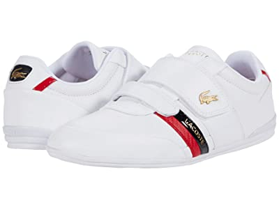 Lacoste Misano Strap 0120 1 (White/Red) Men
