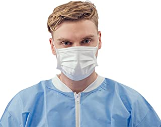 3 Ply Disposable Earloop Face Mask 50 Count Soft Nonwoven Breathable Shield Anti Dust Anti-Viral and Allergy Pollen for Flu Surgical Dental Medical (White)