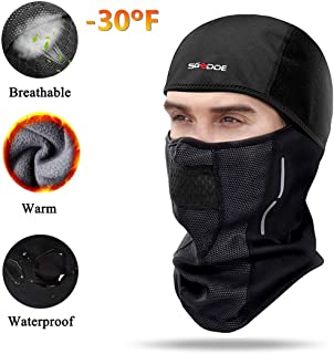 Balaclava Ski Mask- Windproof Balaclava for Men Women Bike Face Mask Bicycle Balaclavas Cold Weather Face Mask in Winter for Skiing Snowboarding Motorcycling