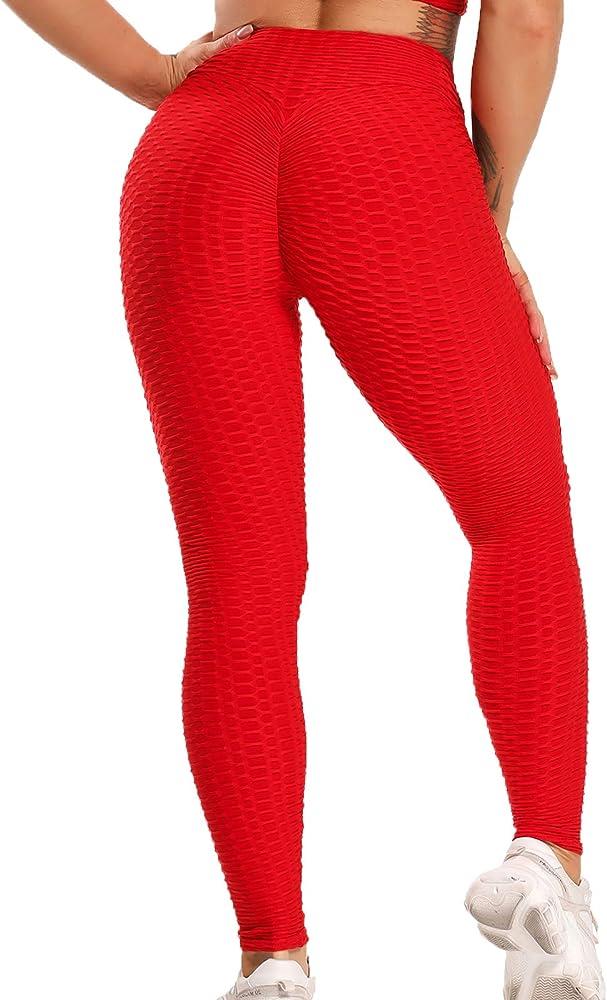 Fittoo, legging sport jacquard per donna,fitness vita alta v per yoga palestra fitness,pantaloni push up