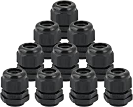 JTDEAL Cable Glands (10Pcs), Nylon Cable Glands Joints IP68 Waterproof M20X 15 Glands 6-12mm Range Black Cable Connector for Home/Garden/Outdoor Lighting Cable