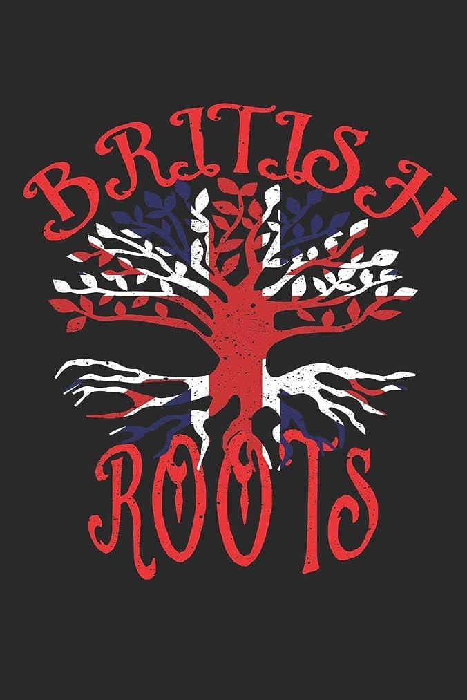 カートン独裁スパークBritish Roots Notebook Journal: 120 Blank Lined Pages Softcover Notes Journal, College Ruled Composition Notebook, 6x9 Tree with Union Jack Flag Design Cover (Funny Gifts For a Friend)
