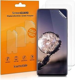 kwmobile 3x pellicola salvaschermo compatibile con Samsung Galaxy A71 - Film protettivo proteggi telefono - protezione ant...