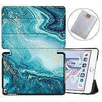 MAITTAO iPad Mini 5 Case 2019, Folio Stand Leather Smart Protective Cases Covers Hard Back Shell With Auto Sleep/Wake For Apple iPad Mini 5th Gen Cover/iPad Mini 4 4th Gen 2015,Marble 3