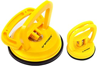 WFPOWER Yellow Suction Cup Dent Puller Handle Lifter 5inch / Dent Remover/Heavy Duty Glass Lifting, 2.3inch Sucker for Screen