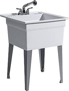 CASHEL 1960-32-22 Heavy Duty Sink - Fully Loaded Sink Kit, Steel Leg, Granite