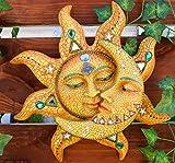 Ebros Colorful Celestial Heavens Mosaic Sun and Moon Wall Decor Plaque 12